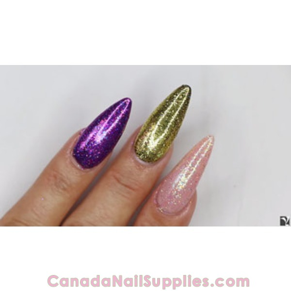 Young Nails - 3 Easy Glitter Press Nail Designs