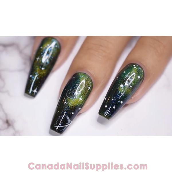 Joya Mia Halo Galaxy Nails