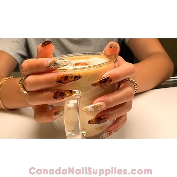 Apres Cafe Pumpkin Spice Latte Gel X Design